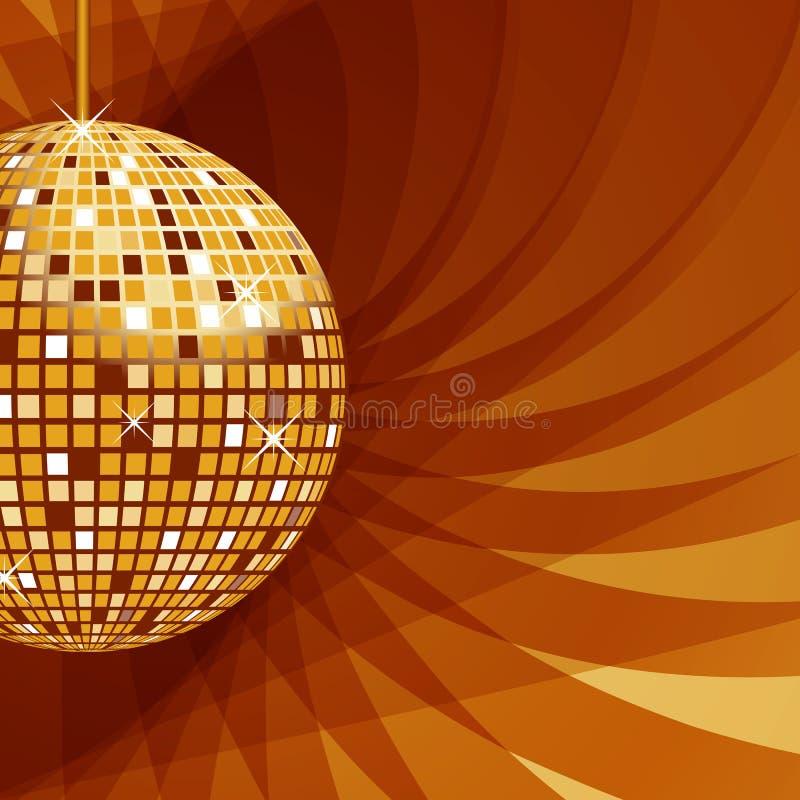 Or de bille de disco sur le fond abstrait illustration de vecteur