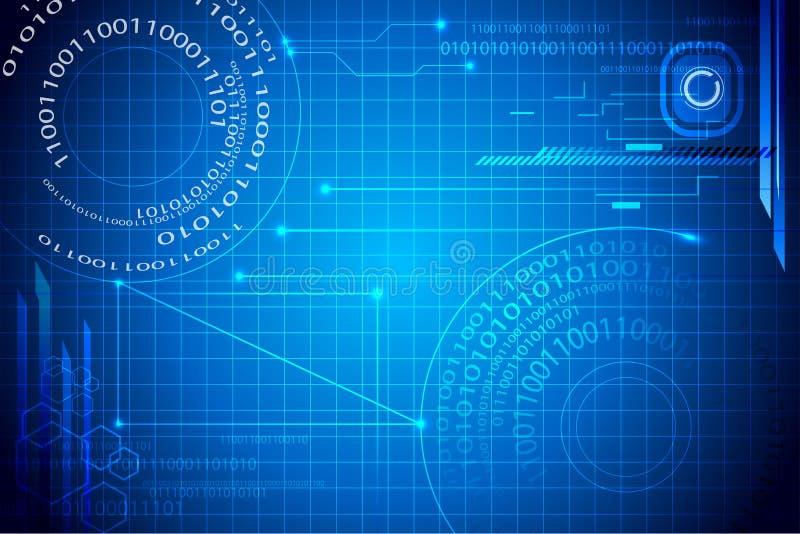 De Binaire Achtergrond van Techno vector illustratie