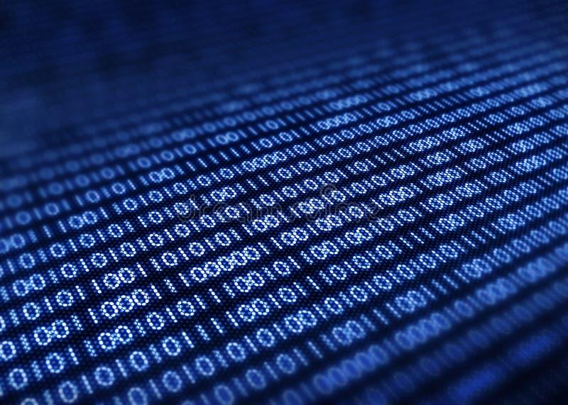 De binaire code pixellated het scherm vector illustratie