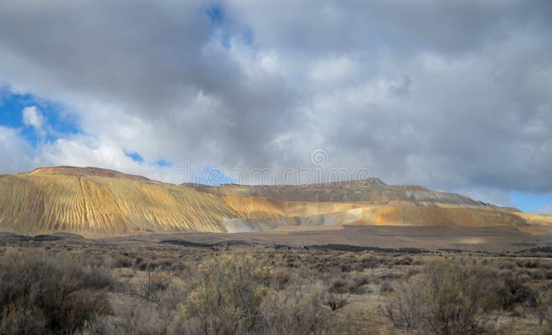De Bingham Canyon Mine Or Kennecott-Kopermijn stock afbeelding