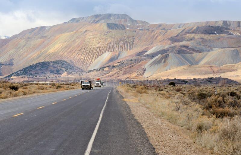 De Bingham Canyon Mine Or Kennecott-Kopermijn stock afbeeldingen