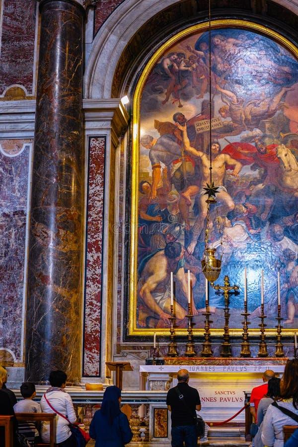 De binnen Basiliek van Heilige Peter stock fotografie