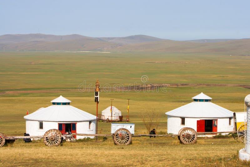De binnen Reizende Stam van Mongolië Jinzhanghan royalty-vrije stock afbeeldingen