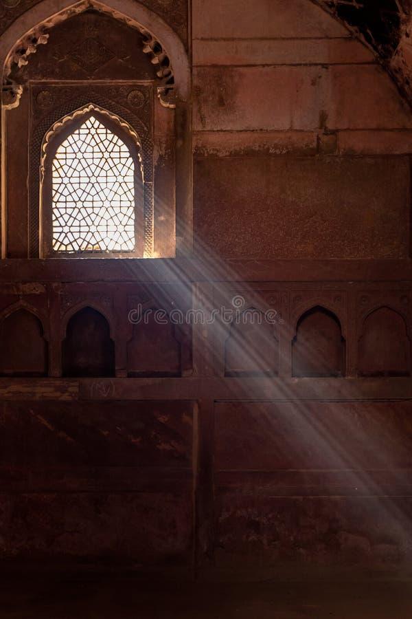 De binnenkant van het Agrafort, Agra, Uttar Pradesh, India royalty-vrije stock fotografie