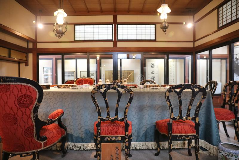 de binnenkant van Shunpanro-zaal royalty-vrije stock afbeelding