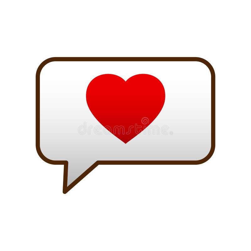 De binnenkomend berichtpictogrammen zijn het hart van de dag van Valentine voor uw website stock illustratie