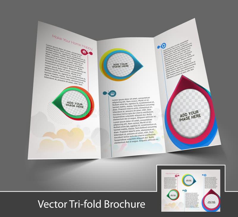 De binnenlandse Brochure van Ontwerperstrifold royalty-vrije illustratie