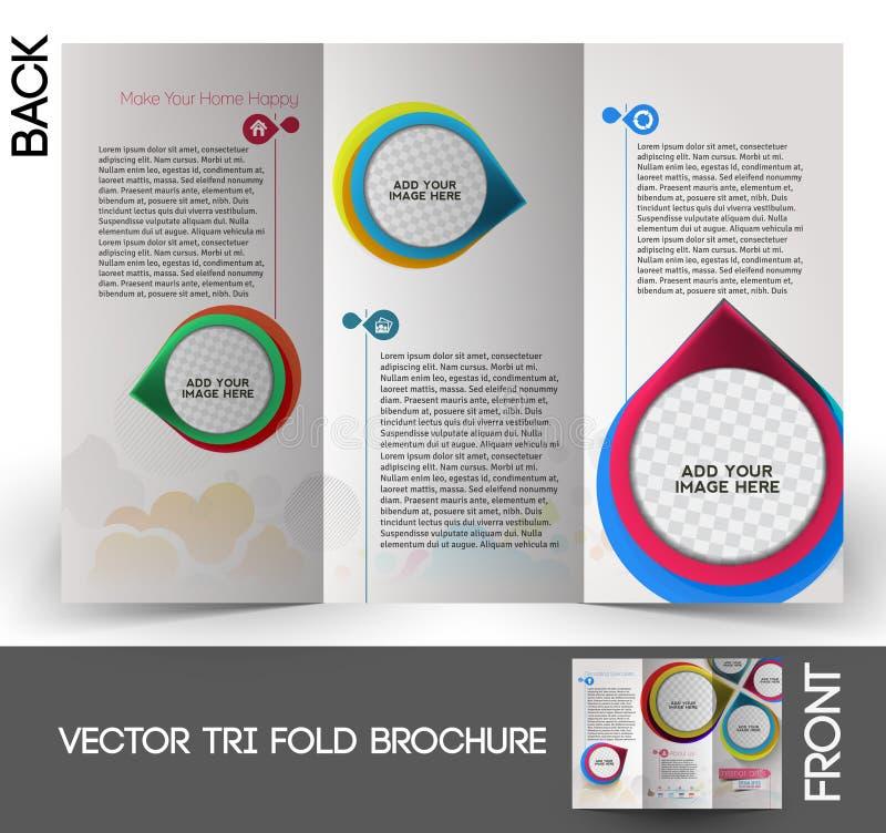 De binnenlandse Brochure van Ontwerperstrifold vector illustratie
