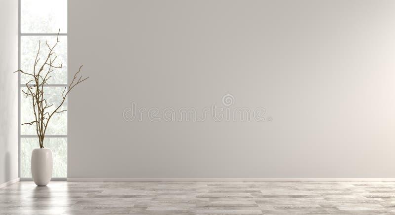 De binnenlandse 3d achtergrond geeft terug royalty-vrije illustratie