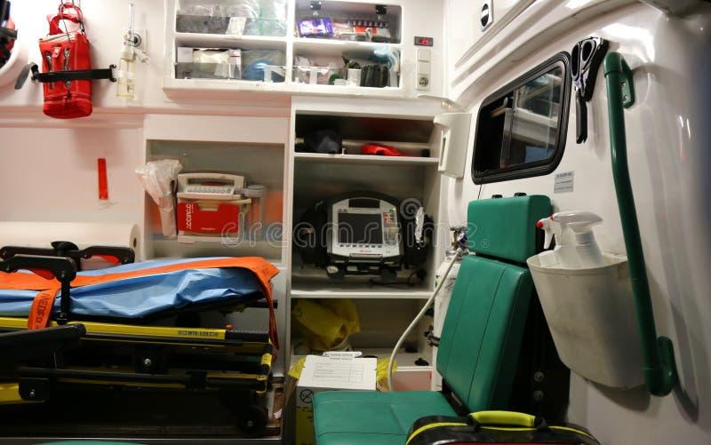De binnenlandse details van de ziekenwagen royalty-vrije stock fotografie
