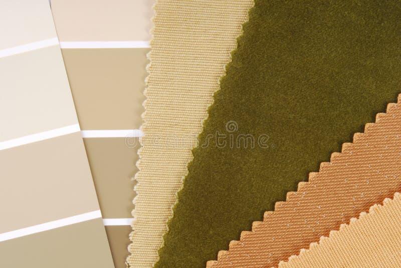 De binnenlandse keus van de ontwerpkleur royalty-vrije stock afbeelding