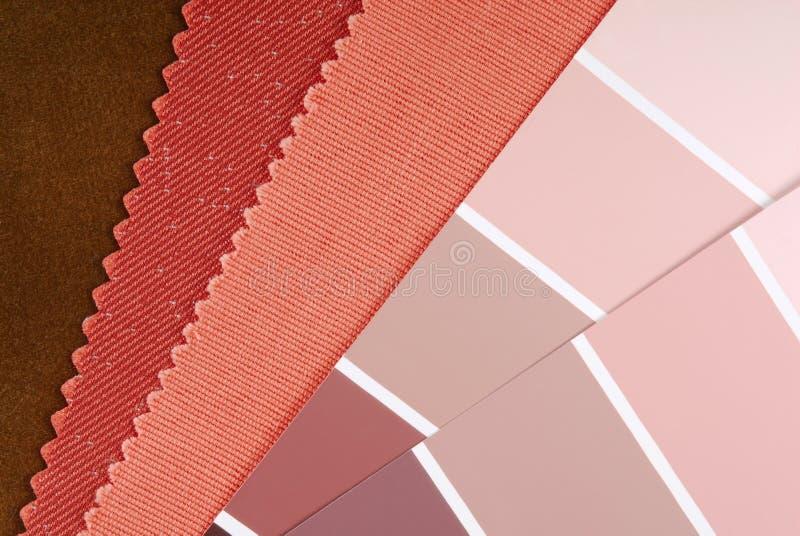 De binnenlandse keus van de ontwerpkleur stock afbeeldingen