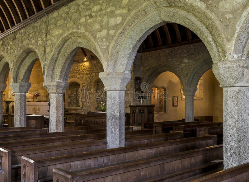 De Binnenlandse Pijlers van kerkzennor royalty-vrije stock afbeelding