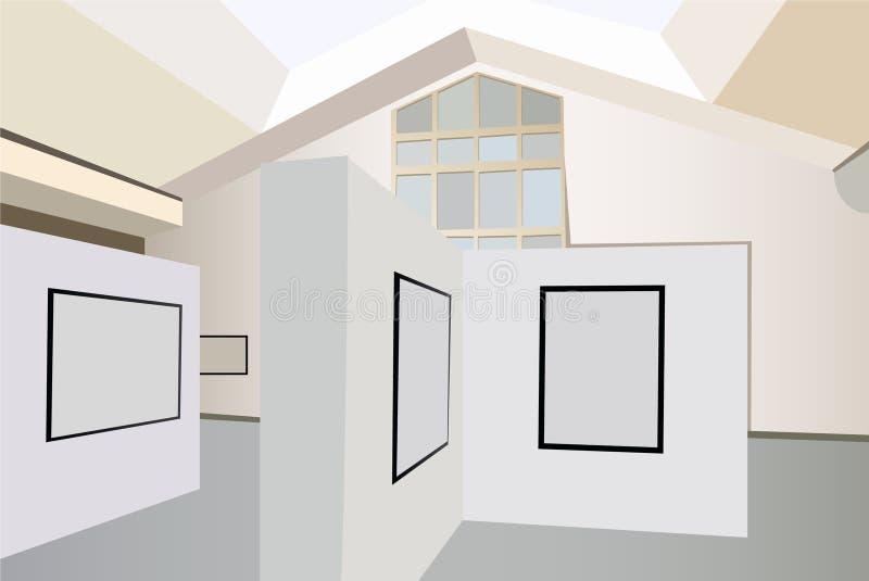 De binnenlandse vector van de tentoonstelling stock illustratie