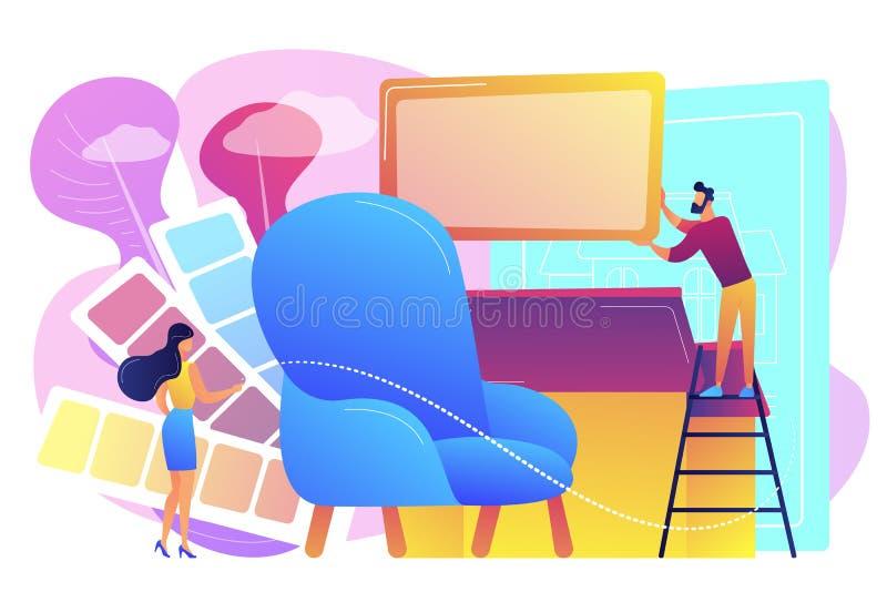 De binnenlandse vectorillustratie van het ontwerpconcept royalty-vrije illustratie