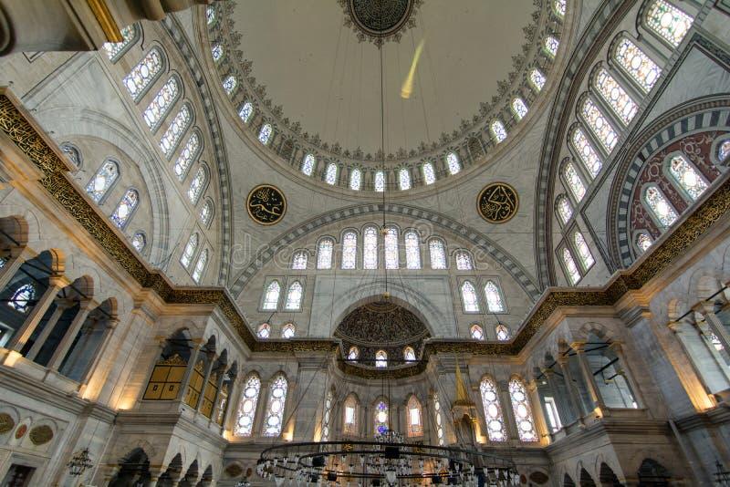 De binnenmening van Blauwe Moskee van Istanboel Turkije stock afbeeldingen