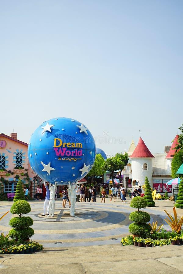 De binnenmening van het pretpark noemde Droomwereld in Pathum Thani, T royalty-vrije stock foto's