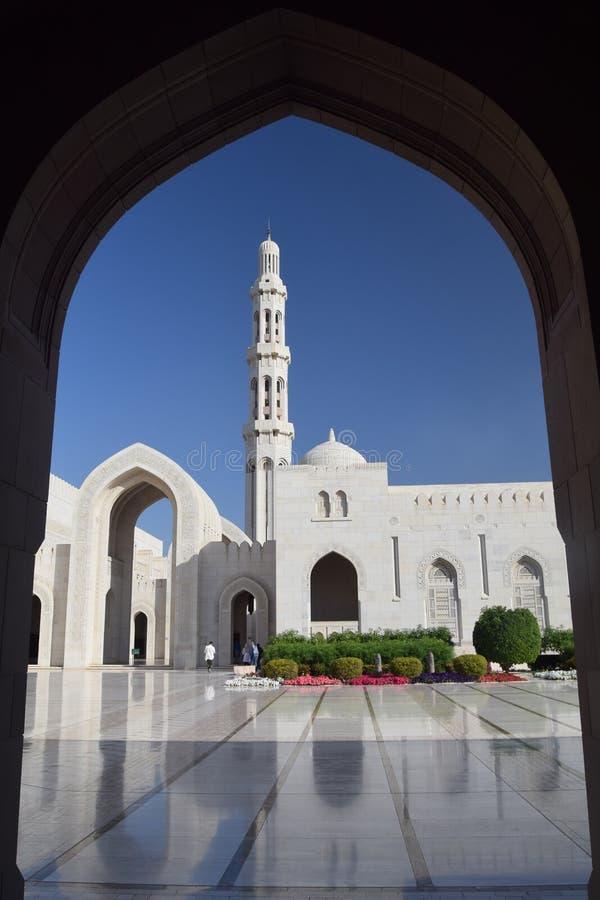 De Binnenplaats van de Grote Moskee, Muscateldruif, Oman royalty-vrije stock fotografie