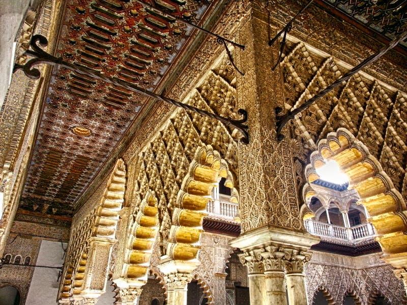 De Binnenplaats van de Meisjes Sevilla Alcazar royalty-vrije stock fotografie