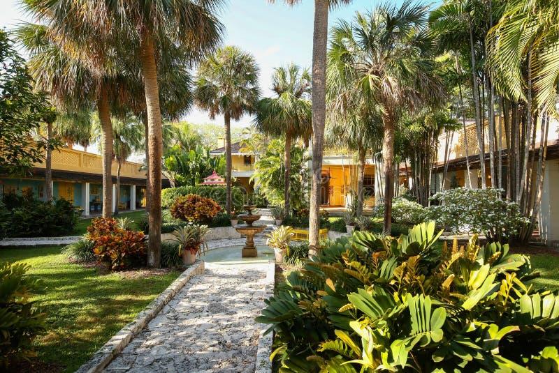 De Binnenplaats van het bonnethuis in Fort Lauderdale, Florida, de V.S. royalty-vrije stock afbeelding