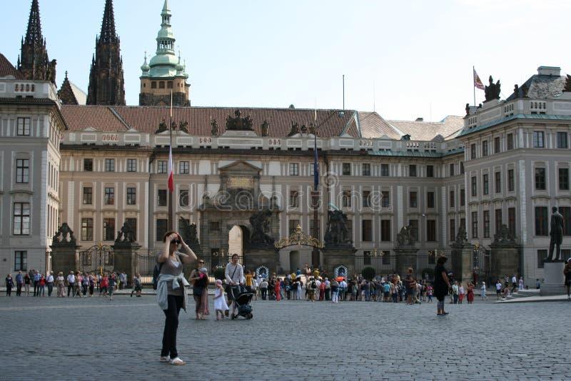 De binnenplaats van Praag Castle_palace stock afbeelding