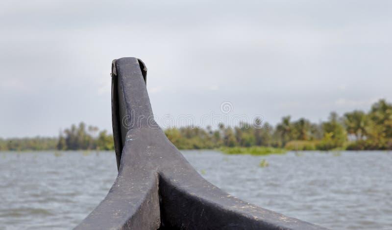 De binnenwateren die van Kerala land ahoy India varen royalty-vrije stock fotografie