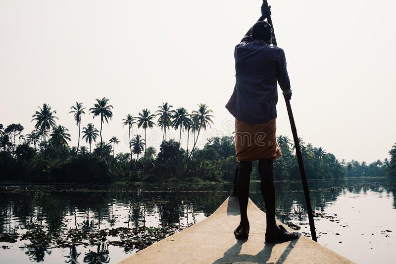 De binnenwateren van Kerala stock fotografie