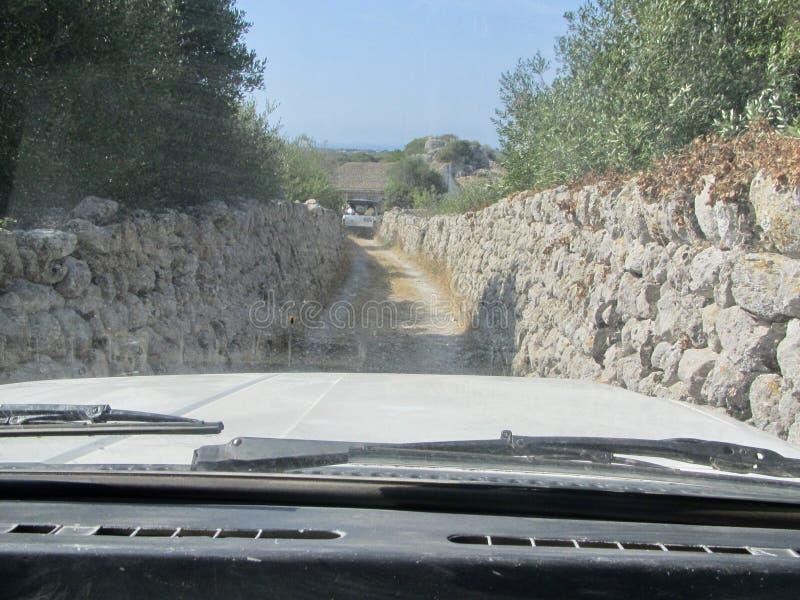 De binnenweggen van Mahà ³ n, op het Spaanse Eiland Menorca royalty-vrije stock afbeelding