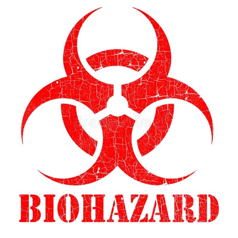 De bio illustratie van de gevaarzegel stock illustratie