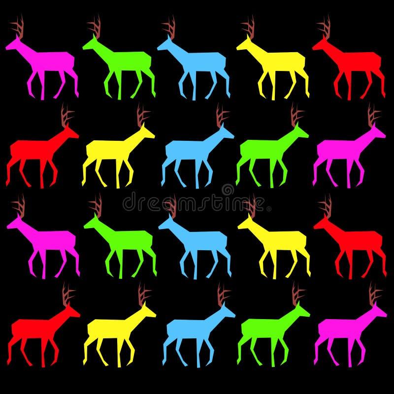 De biobenen van de hoornenhoeven van de damhindeochtend structureren scherpe aard wilde Gr stock illustratie