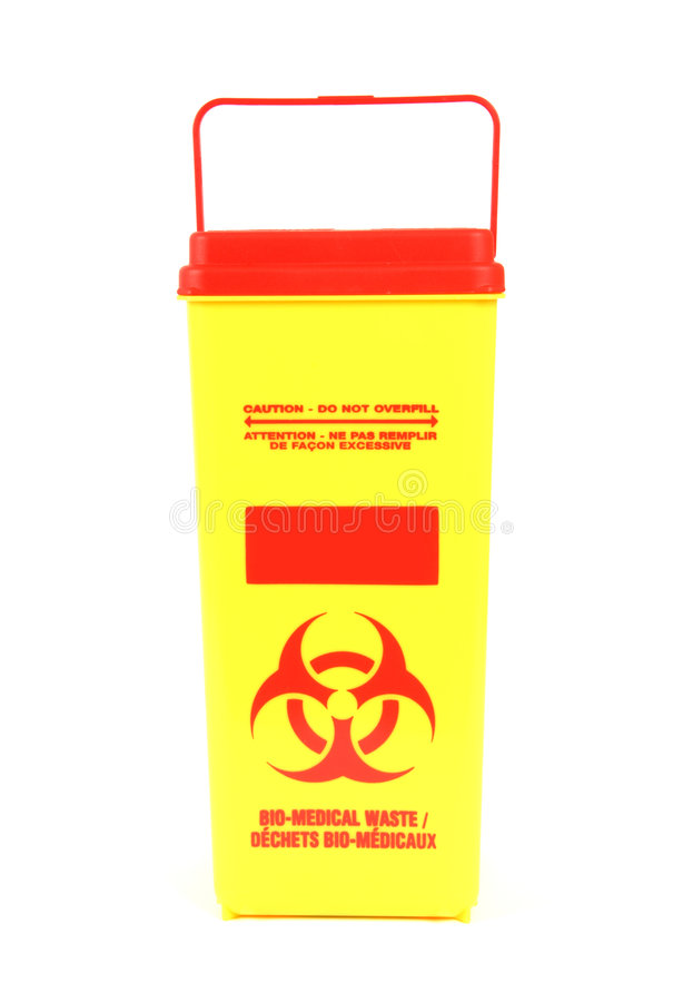 De biomedische Doos van het Afval stock foto