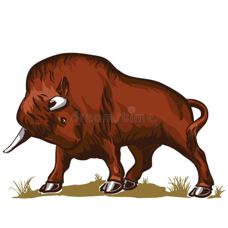 De bizon van de buffelsstier royalty-vrije illustratie