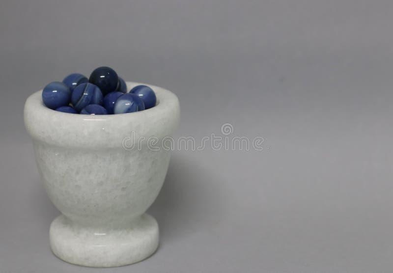 de blåa marmorn royaltyfria bilder