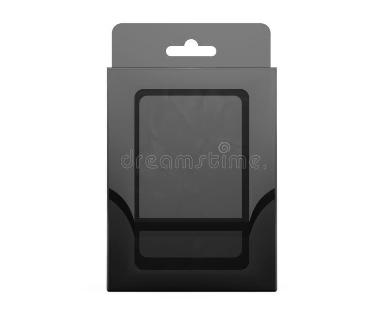 De Blaardoos van het productpakket met Hang Slot het 3d teruggeven vector illustratie