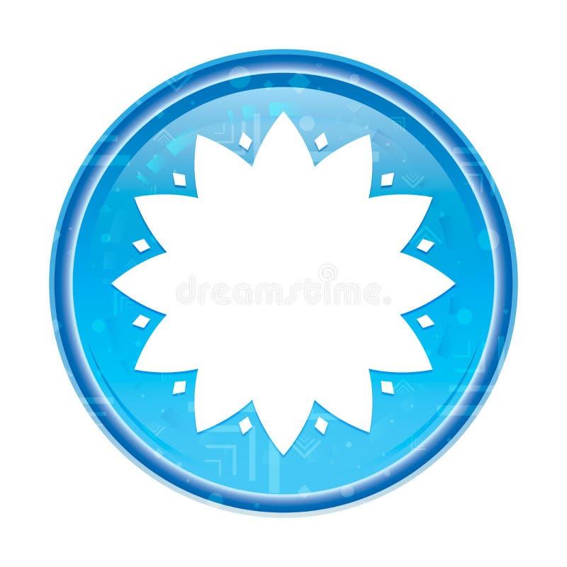 De blad bloemen blauwe ronde knoop van het bloempictogram stock illustratie