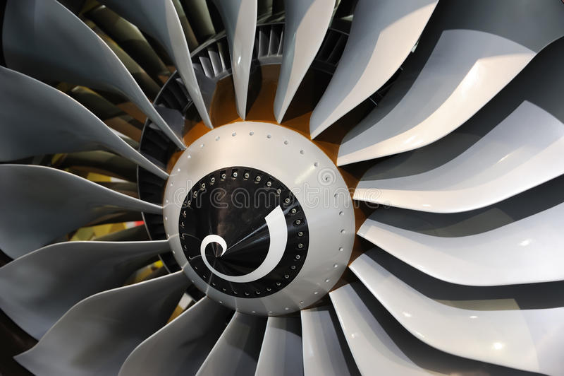 De bladen van de straalmotor stock afbeelding