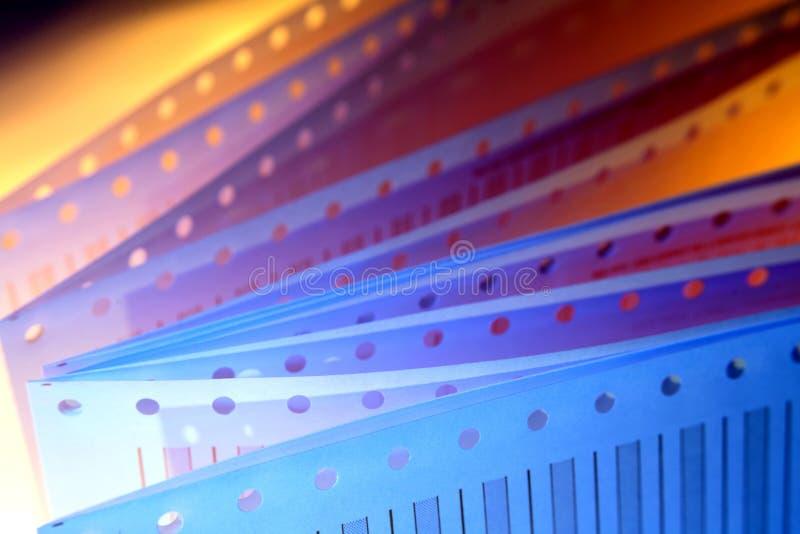 De Bladen van het Document van de Printer van de computer royalty-vrije stock fotografie