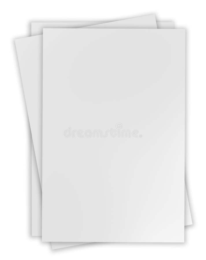 De bladen van het document stock fotografie