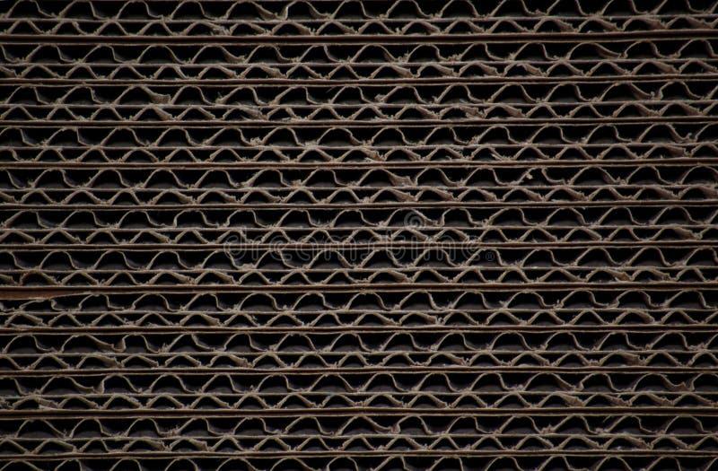 De bladen van het karton stock afbeelding