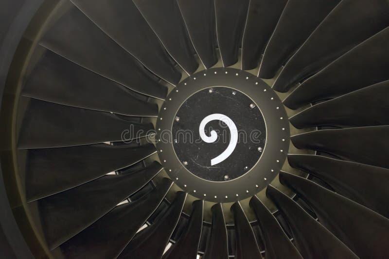 De bladendetail van de straalmotor stock foto's