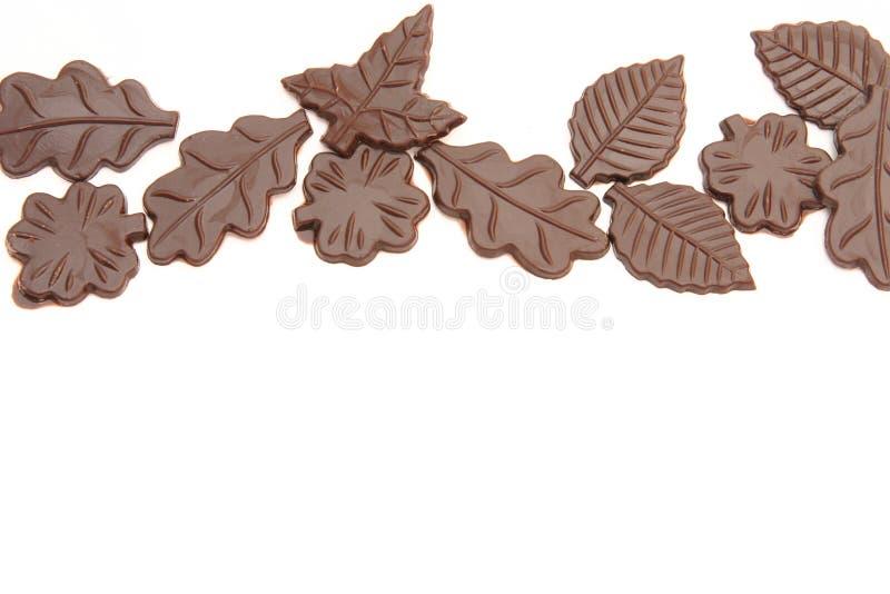 De bladeren van de chocolade royalty-vrije stock fotografie