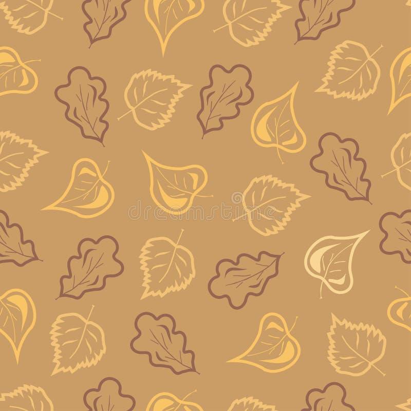 De bladeren van de daling stock illustratie