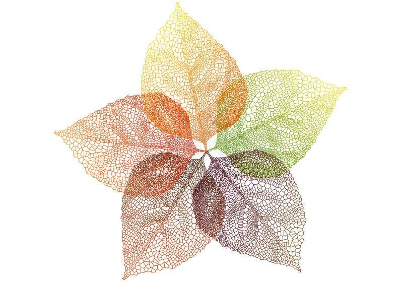 De bladeren van de herfst, vector stock illustratie