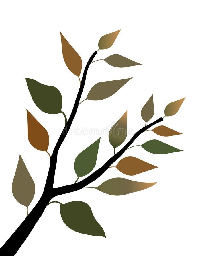 De Bladeren van de lente stock illustratie