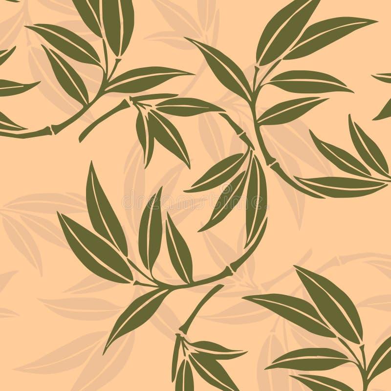 Bamboebladeren royalty-vrije illustratie