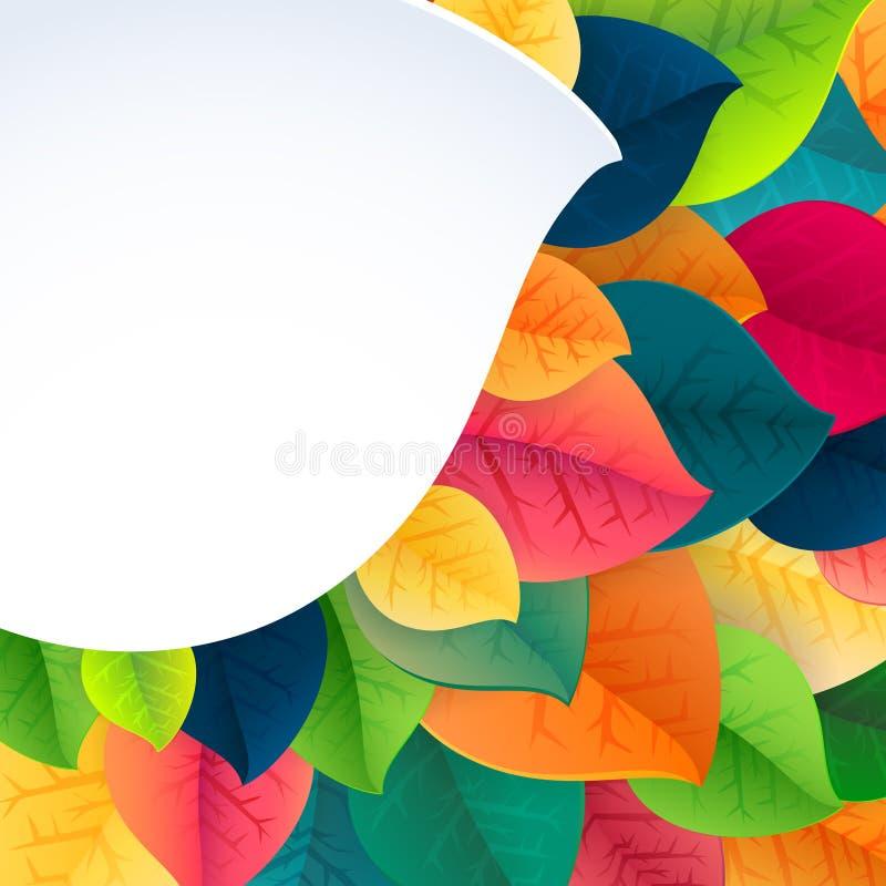 De bladeren vectorachtergrond van de de herfst abstracte daling stock illustratie