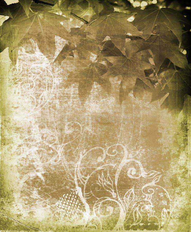De bladerenachtergrond van Grunge royalty-vrije illustratie
