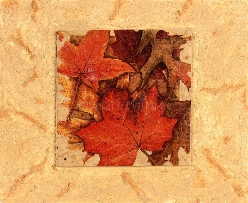 De bladerencollage van de herfst royalty-vrije illustratie