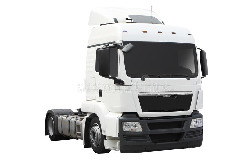 De blanc camion semi photo stock