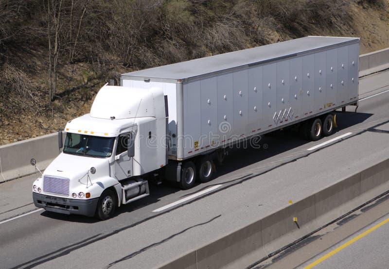 De blanc camion semi images stock